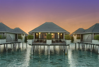 Set On Stilts Above The Tranquil Turquoise Lagoon Our Maldives Water Bungalows Truly Embrace Island Atmosphere Of Sun Resort Spa